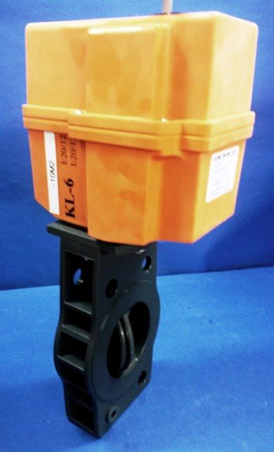 ACTUATED BUTTERFLY VALVE, Lot of 2 GEORG FISCHER / GF-036-PVC-FPM EA-30 (20126)