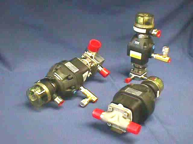 AIR ACTUATED 0-STATIC DIAPHRAGM VALVE,Lot of 2 ITT / 0-5-F-428-9-4-R2-36-A205 (72078)