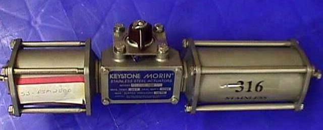 AIR ACTUATED BALL VALVE ACTUATOR KEYSTONE MORIN / PSM 2500 (72771)