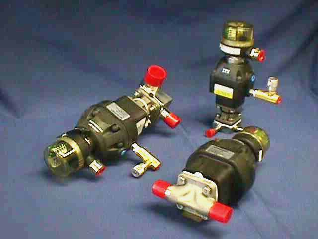 AIR ACTUATED DIAPHRAGM VALVE, Lot of 2 ITT / 1-F-419-9-4-R2-36-A208 (72095)