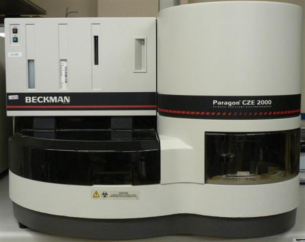 AUTOMATED CAPILLARY ELECTROPHORESIS BECKMAN / PARAGON CZE 2000 (9018)