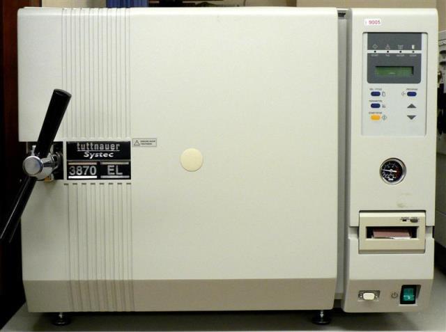 AUTOMATIC HORIZONTAL AUTOCLAVE TUTTNAUER-SYSTEC / 3870 EL (9005)
