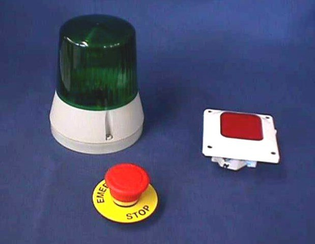 EMERGENCY BUTTON, Lot of 10 TRANSELECTRO / 468 650 008 (72232)