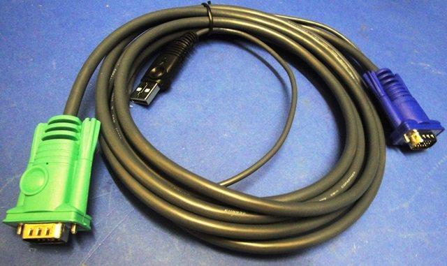 KVM-UBS CABLE,Lot of 4 CABIE ATEN / 2L-5203U (9761)