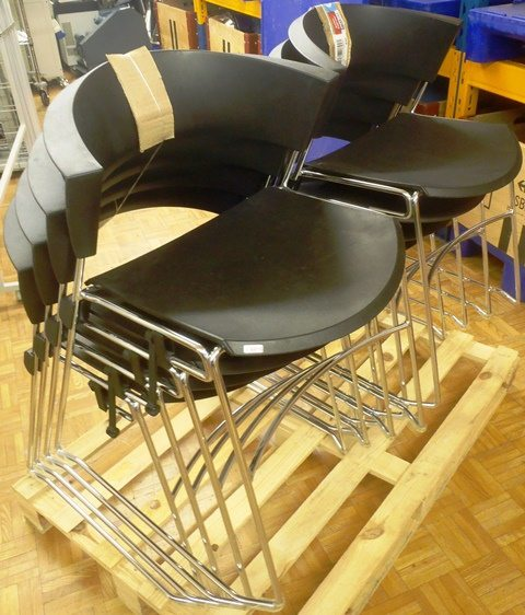 SEMINAR CONFERENCE CHAIR,Lot of 8 GIROFLEX / 12-3008 47.01 (9816)