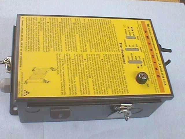CONTROLE RIDEAU SECURITE STI / MICROSAFE MC42D (20023)