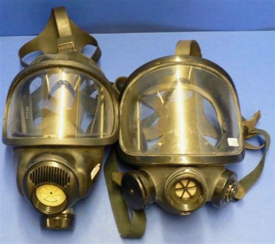 MASQUE GAZ,Lot de 2 AUERR / 3 S-E (2501)